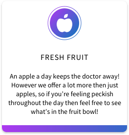 1. Fresh Fruit